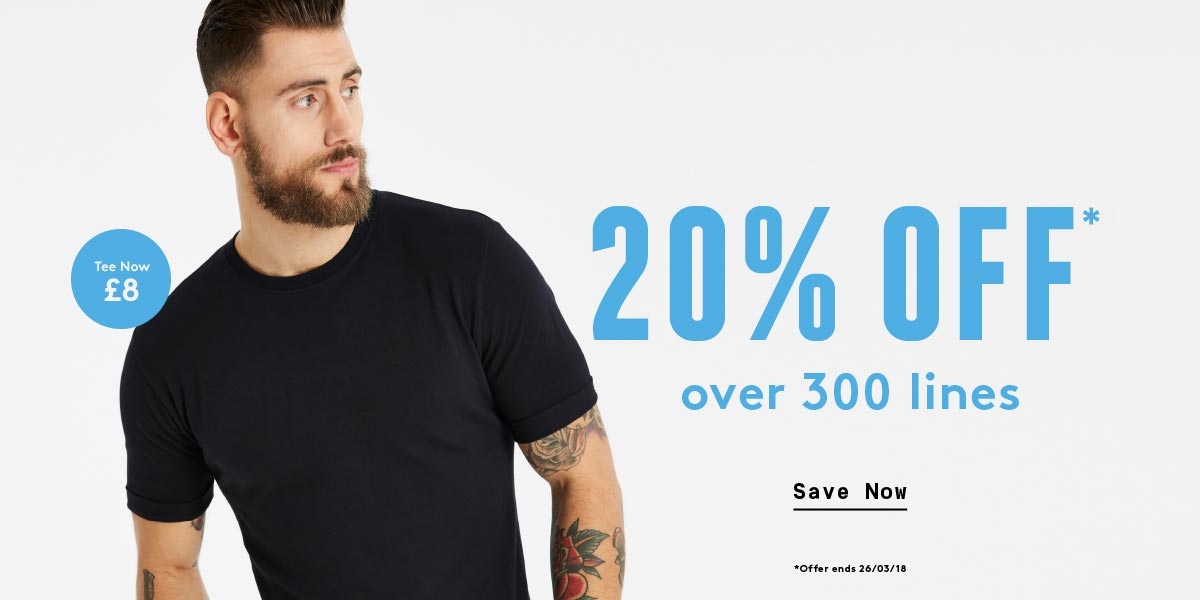 20% Off 300 lines