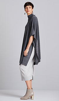 Poncho with Shimmer Detailing
