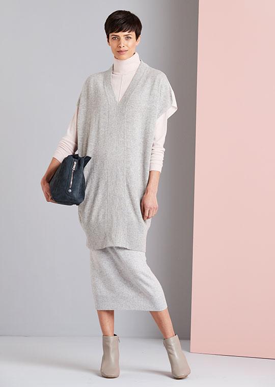 Cashmere & Silk Longline Tunic
