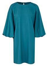 TEAL BELL SLEEVE SHIFT DRESS
