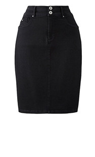 premium shape & sculpt denim pencil skirt length 24in