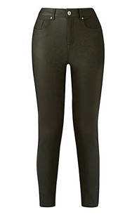 chloe super stretch coated skinny jeans regular length