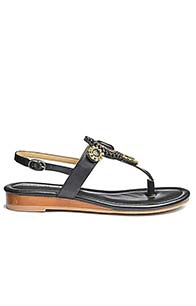 Heavenly Soles Toe Post Sandals with Trim Detail Wide E Fit