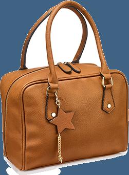 Tan Lola Bowler Bag