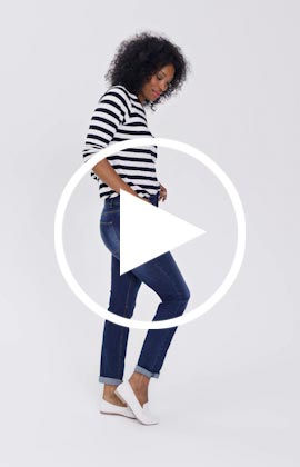 Bridget straight jeans video