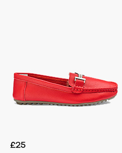 HEAVENLY SOLES LEATHER SLIP ON LOAFERS WIDE E FIT